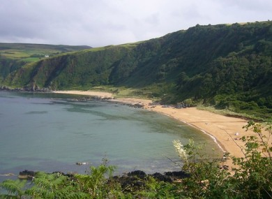 Kinnagoe Bay, where the turbines are close by to.