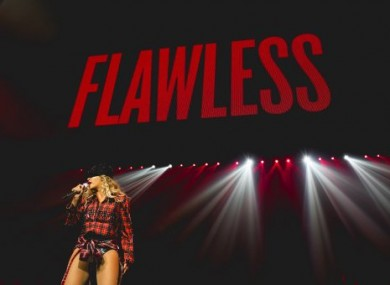 Beyoncé performs onstage on her Mrs. Carter Show World Tour 2014.