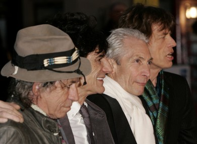Keith Richards, Ronnie Wood, Charlie Watts, & Jagger