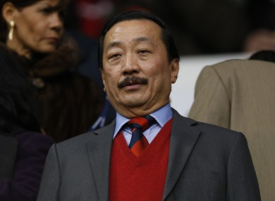 Cardiff City's owner Vincent Tan looks on from the stand before the start of their clash with Tottenham Hotspur.