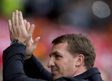 Brendan Rodgers: eyes on the next game.