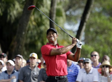 Woods has been suffering from back problems.