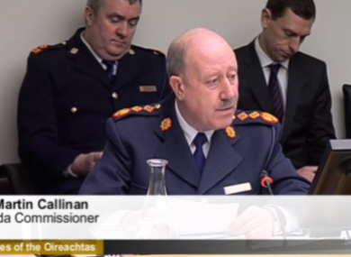 Callinan at the PAC meeting in January