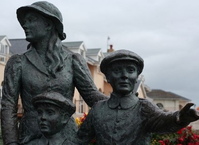 An emigration statue in Cobh, Cork.