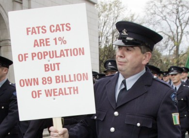 File photo of John Kidd at a protest in 2009.