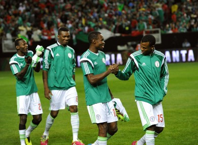 Each Nigeria player will pocket $10,000 for every group stage victory.