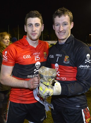 UCC's Paul Geaney and Brian Kelly.