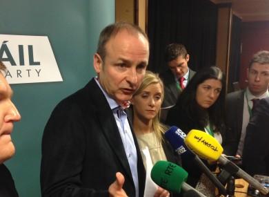 Micheál Martin at the Fianna Fáil Ard Fheis today