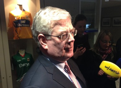 Eamon Gilmore at GAA Headquarters today.