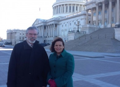 Gerry Adams and Mary Lou McDonald at Capitol Hill in Washington DC