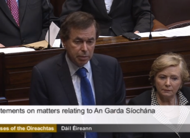 Alan Shatter in the Dáil yesterday.