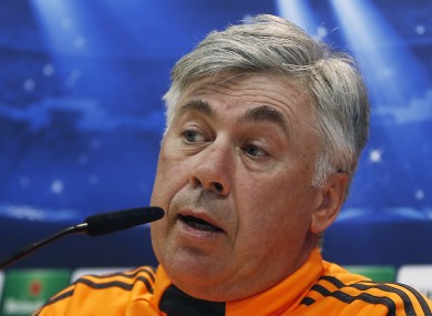 Carlo Ancelotti condemned his supporter's actions following Real's win at the weekend.