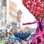 Street performers entertain thousands of people today in Dublin.<span class=