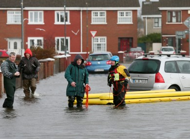 Residents of the Lee estate in Limerick, hit by the recent flooding.
