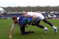 VIDEO: This is what it's like to get smashed by Leinster rugby players