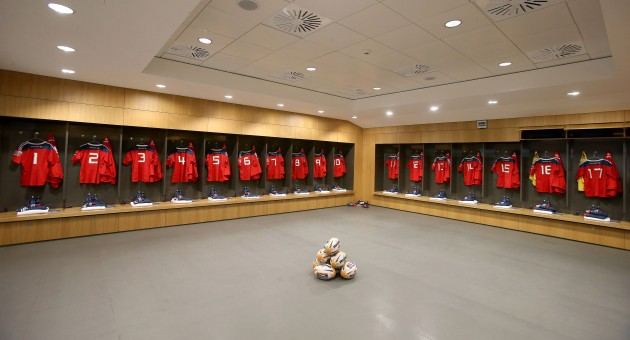 The Munster changing room
