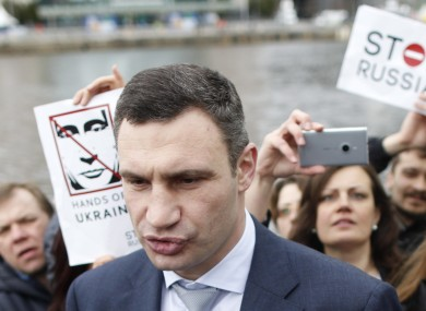 Ukrainian politician Vitali Klitschko in Dublin city centre