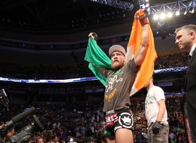 McGregor says he can't wait to get back into the Octagon.