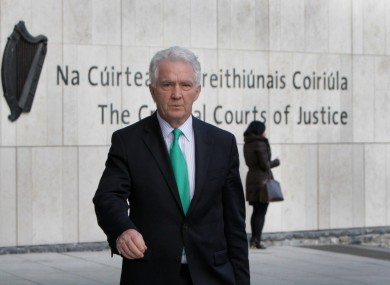 Former chairman Sean Fitzpatrick leaving court yesterday.