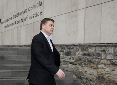 Pat Whelan leaving court yesterday.