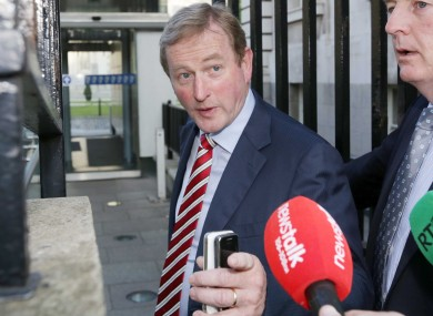 Enda Kenny on his way into Cabinet this morning