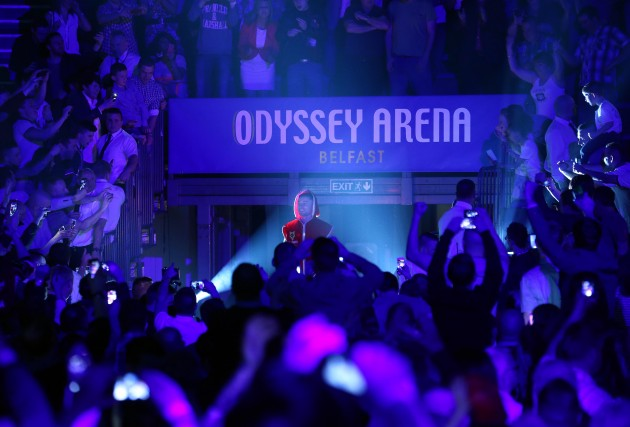 Carl Frampton enters the Odyssey Arena 4/4/2014