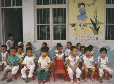 Children at a playschool in China (File photo)