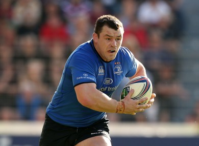 Healy in action for Leinster.
