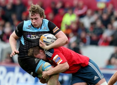 Dave Foley tackles Jonny Gray.
