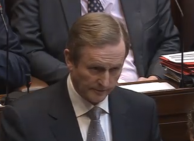 Enda Kenny made the new revelations in the Dáil today