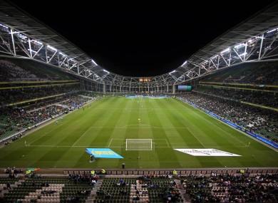 Dublin's Aviva Stadium could host four European Championship games.