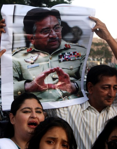Musharraf supporters protest treason charg