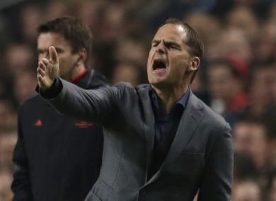 De Boer has been managing Ajax since 2010.