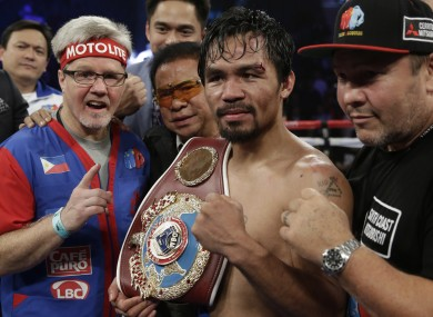 Pacquiao has his title back.