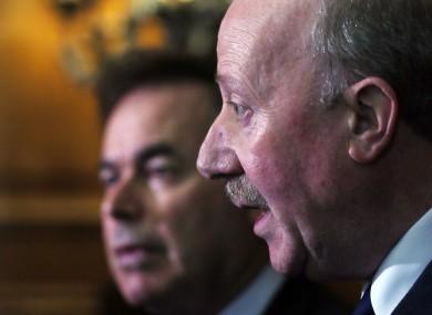 Justice Minister Alan Shatter and former Garda Commissioner Martin Callinan