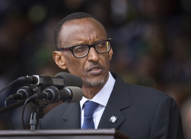 Rwandan President Paul Kagame at a ceremony to mark the 20th anniversary of the Rwandan genocide