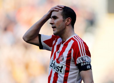 O'Shea was dropped for Sunderland's game against Spurs.