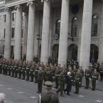 President Higgins Inspects the Guard of Honour.<span class=