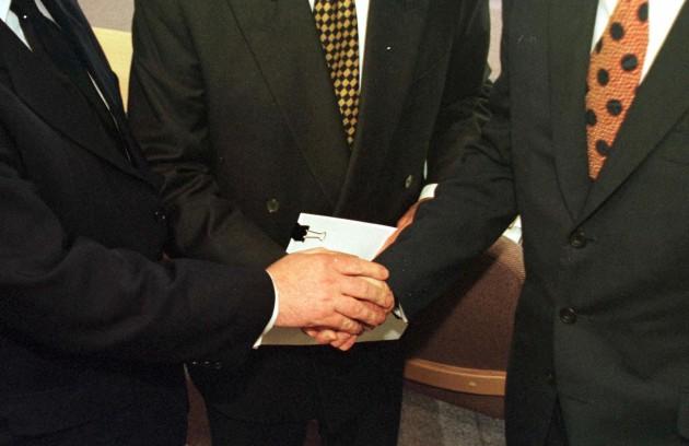 Ulster talks handshakes