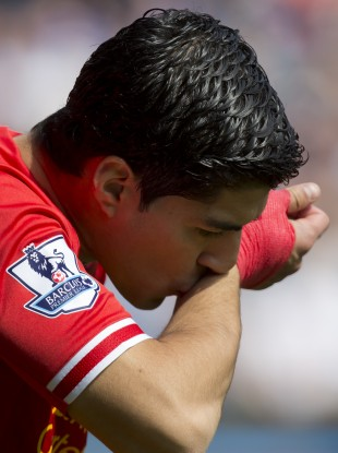 Forward thinking: Suarez says he's settled on Merseyside.