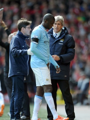 Toure picked up the original injury against Liverpool in mid-April.