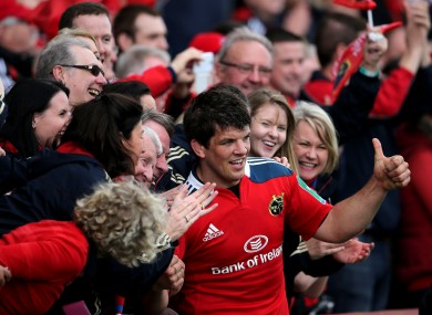 Donncha O'Callaghan is hoping to play games number 29 and 30 for Munster this season.