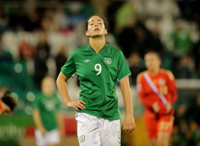 Fiona O'Sullivan scored Ireland's only goal but the evening ended in disappointment.