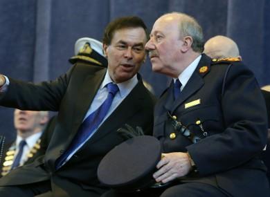 Alan Shatter with former Garda Commissioner Martin Callinan