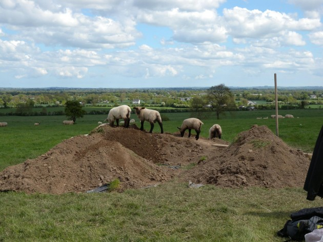 Health and Safety Inspectors investigate our spoilheap (pic by Cathy Moore)