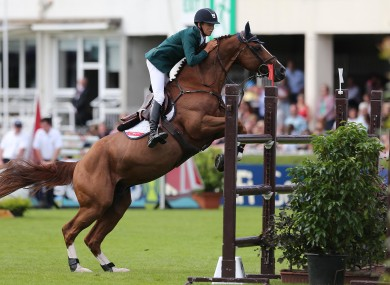 Bertram Allen pictured competing in the 2013 Dublin Horse Show.