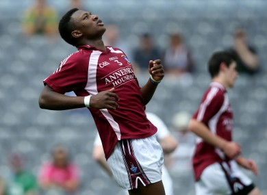 Ilunga lining out for Westmeath in last year's Leinster Minor Football Championship final.