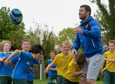 Kearney helped to launch the Herald Leinster Rugby Summer Camps yesterday.