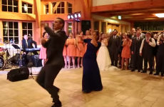 Supermum performs the most epic of wedding dances with her son