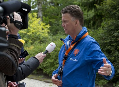 Louis van Gaal will take over at United after managing Holland at the World Cup.